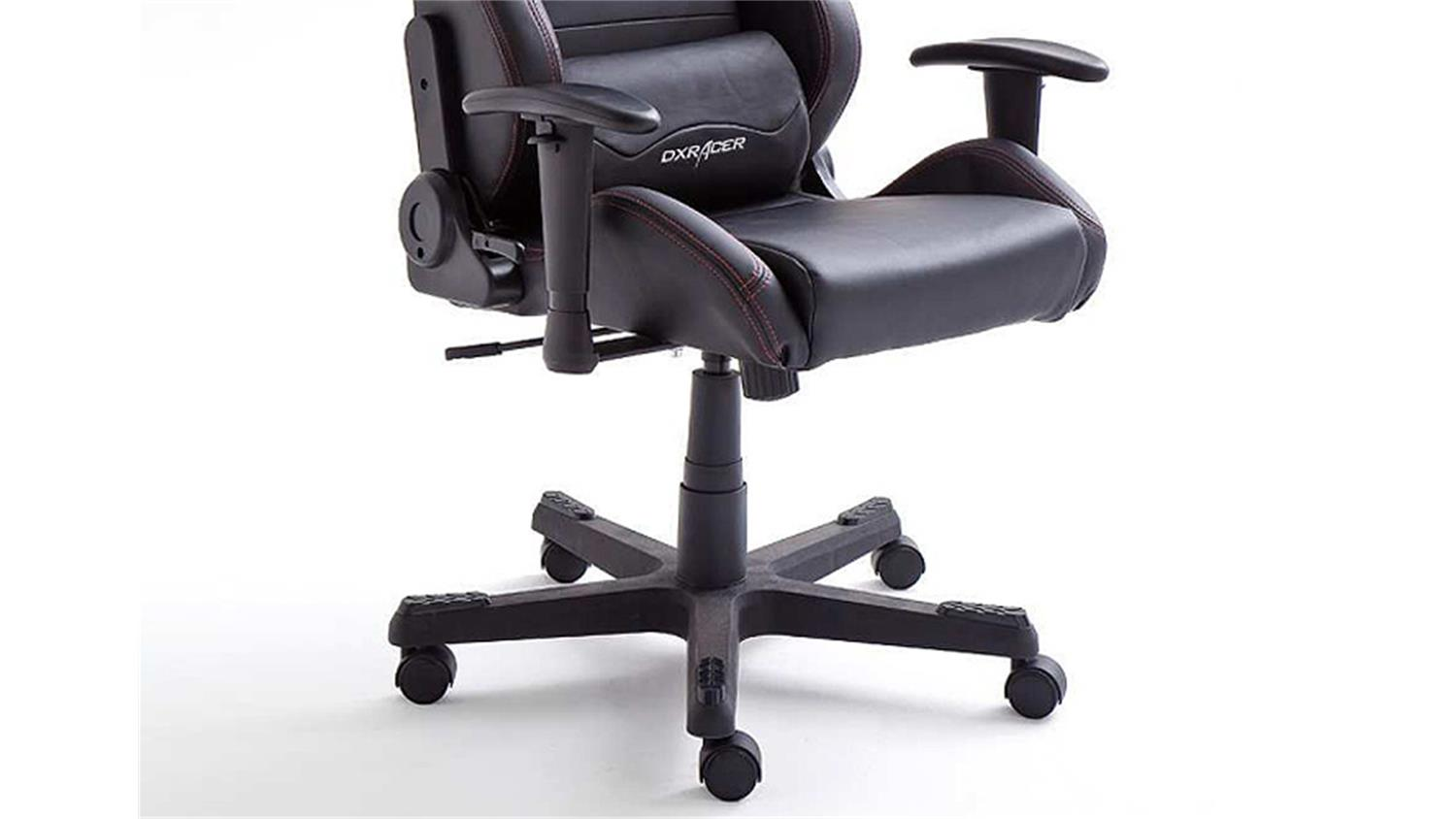 schreibtischstuhl b rostuhl dx racer 3 lederlook schwarz game chair. Black Bedroom Furniture Sets. Home Design Ideas