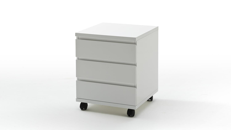 rollcontainer sydney hochglanz wei 3 schubladen. Black Bedroom Furniture Sets. Home Design Ideas