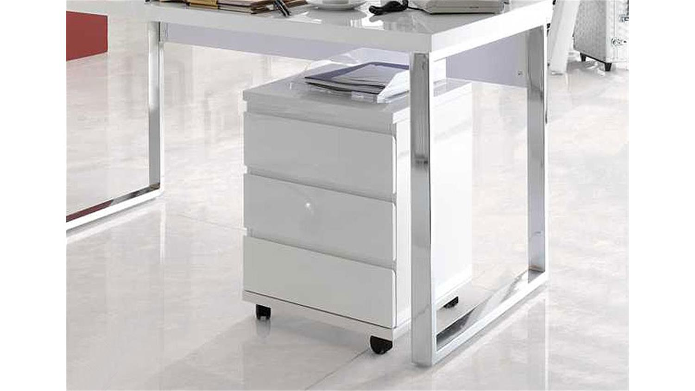 rollcontainer sydney wei hochglanz lackiert. Black Bedroom Furniture Sets. Home Design Ideas