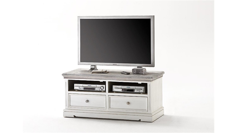 tv board 1 opus lowboard in kiefer massiv wei vintage. Black Bedroom Furniture Sets. Home Design Ideas