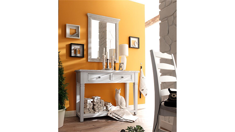 spiegel opus wandspiegel in kiefer massiv wei vintage. Black Bedroom Furniture Sets. Home Design Ideas