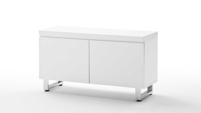 kommode sydney in wei hochglanz lackiert mit 2 t ren. Black Bedroom Furniture Sets. Home Design Ideas