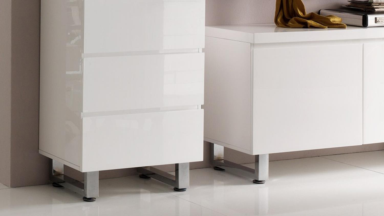 garderobe 1 sydney flurm bel in wei hochglanz lackiert 4. Black Bedroom Furniture Sets. Home Design Ideas