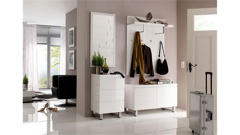 garderobenset sydney 1 garderobe in wei und hochglanzlack. Black Bedroom Furniture Sets. Home Design Ideas