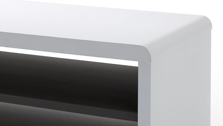 tv board jeff lowboard unterschrank fernsehschrank wei schwarz 79 cm. Black Bedroom Furniture Sets. Home Design Ideas
