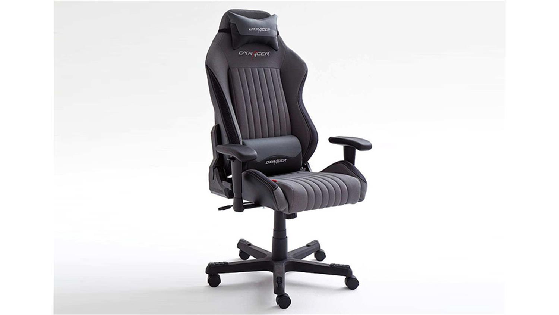 schreibtischstuhl b rostuhl dx racer 7 stoff grau carbon. Black Bedroom Furniture Sets. Home Design Ideas