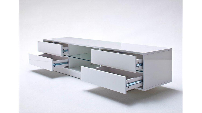 tv board blues wei hochglanz inkl rgb beleuchtung. Black Bedroom Furniture Sets. Home Design Ideas