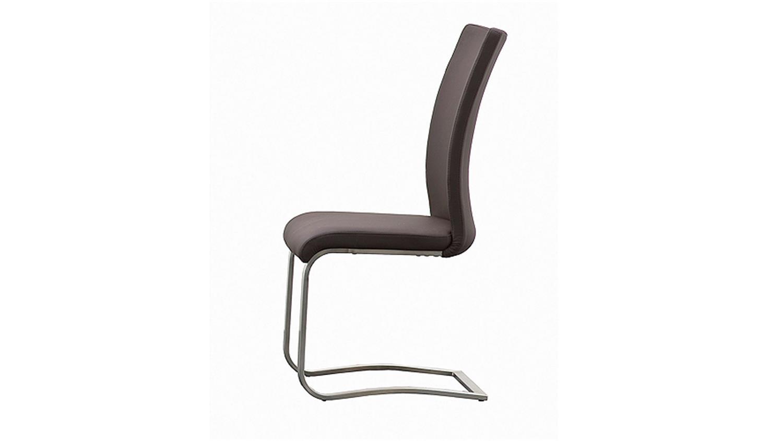 stuhl arco 4er set in echtleder braun und edelstahl. Black Bedroom Furniture Sets. Home Design Ideas