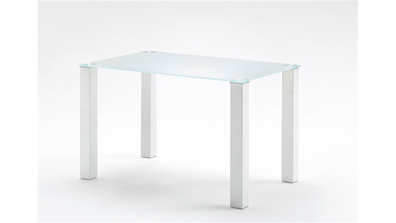 tisch hanna k chentisch in wei hochglanz glas 120 cm. Black Bedroom Furniture Sets. Home Design Ideas