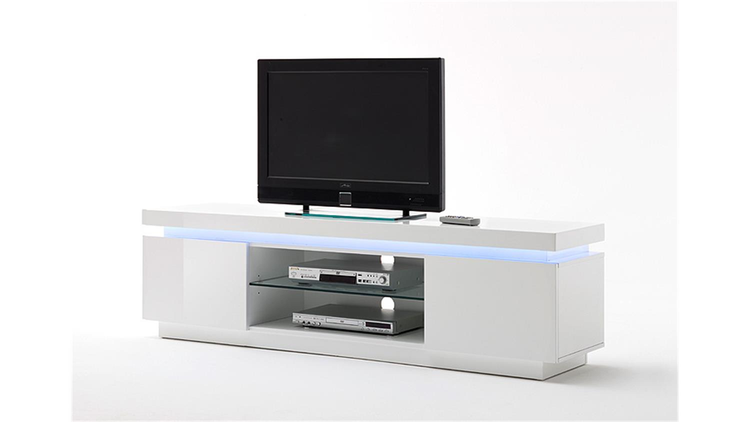 tv board 1 ocean wei hochglanz inkl rgb beleuchtung 175 cm. Black Bedroom Furniture Sets. Home Design Ideas