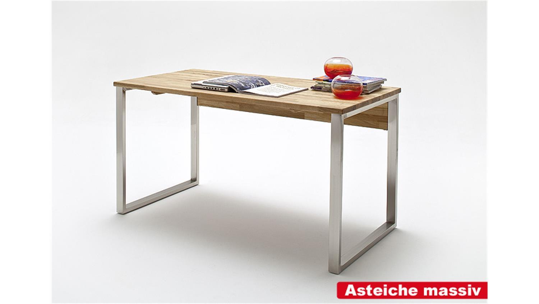 Schreibtisch lucy computertisch tisch in kernbuche massiv for Kernbuche computertisch