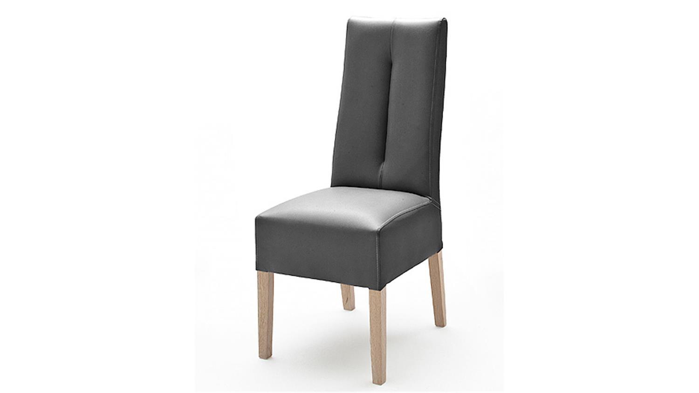 stuhl fanny 2er set esszimmerstuhl lederlook grau sonoma eiche. Black Bedroom Furniture Sets. Home Design Ideas
