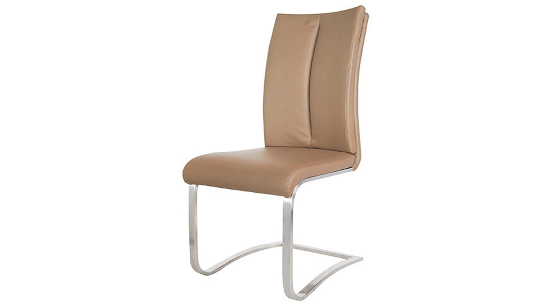 schwingstuhl manu esszimmerstuhl in cappuccino hellbraun. Black Bedroom Furniture Sets. Home Design Ideas