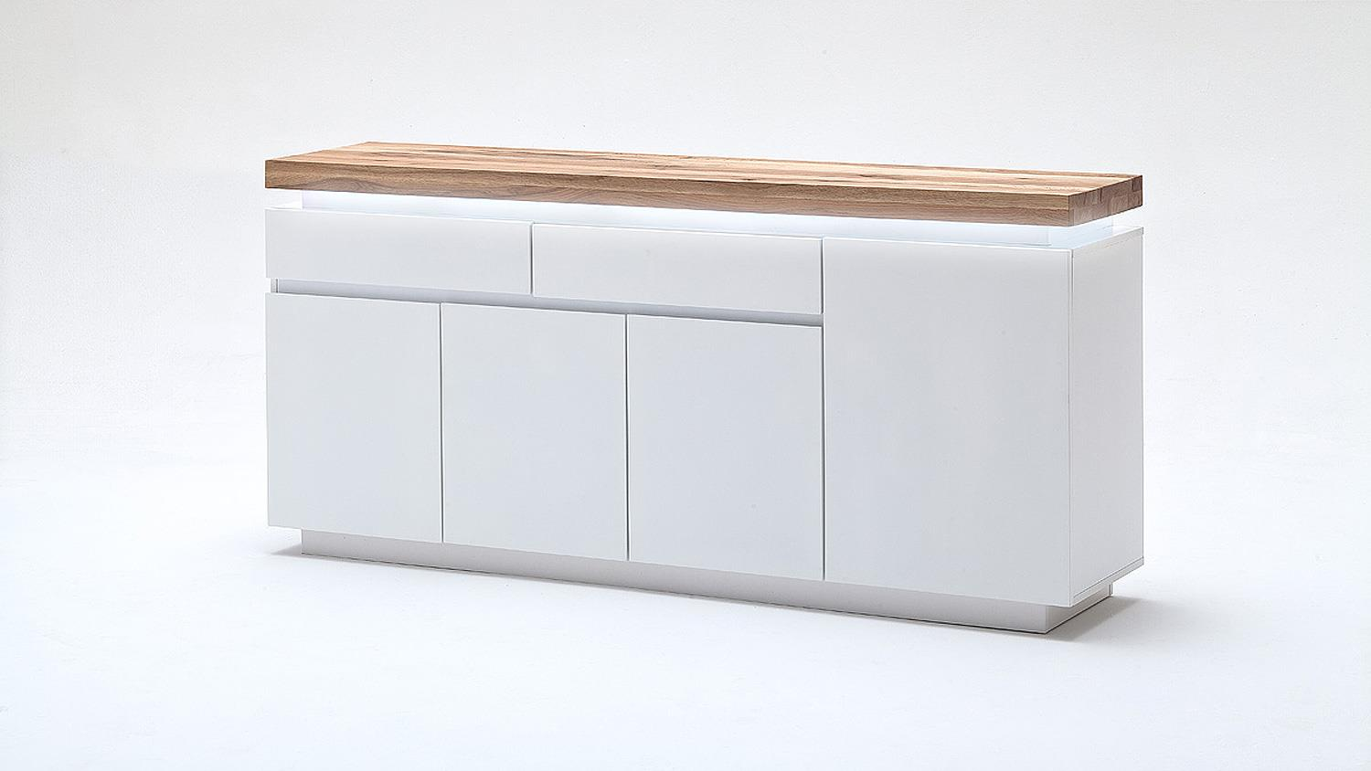 affordable fabulous good sideboard romina wei matt lack eiche massiv inkl led with highboard eiche wei with sideboard eiche gelt with highboard eiche wei
