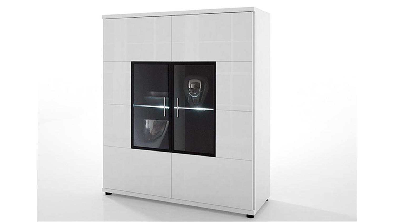 highboard corano 2 t rig wohnzimmerschrank hochglanz wei. Black Bedroom Furniture Sets. Home Design Ideas
