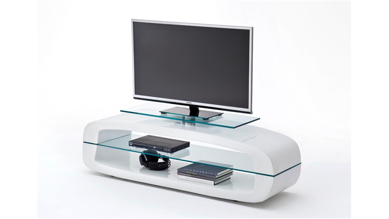 tv board laurel wei hochglanz und klarglas. Black Bedroom Furniture Sets. Home Design Ideas