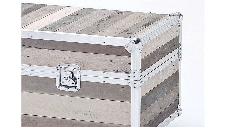 truhe seoul akazie pinie massivholz grau alurahmen. Black Bedroom Furniture Sets. Home Design Ideas