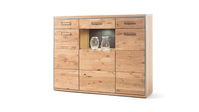 highboard espero kommode in ast eiche bianco teilmassiv. Black Bedroom Furniture Sets. Home Design Ideas
