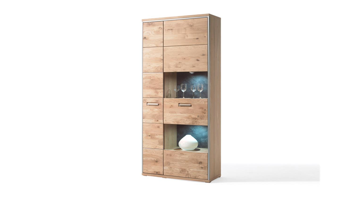 kombivitrine espero vitrine ast eiche teilmassiv ge lt. Black Bedroom Furniture Sets. Home Design Ideas