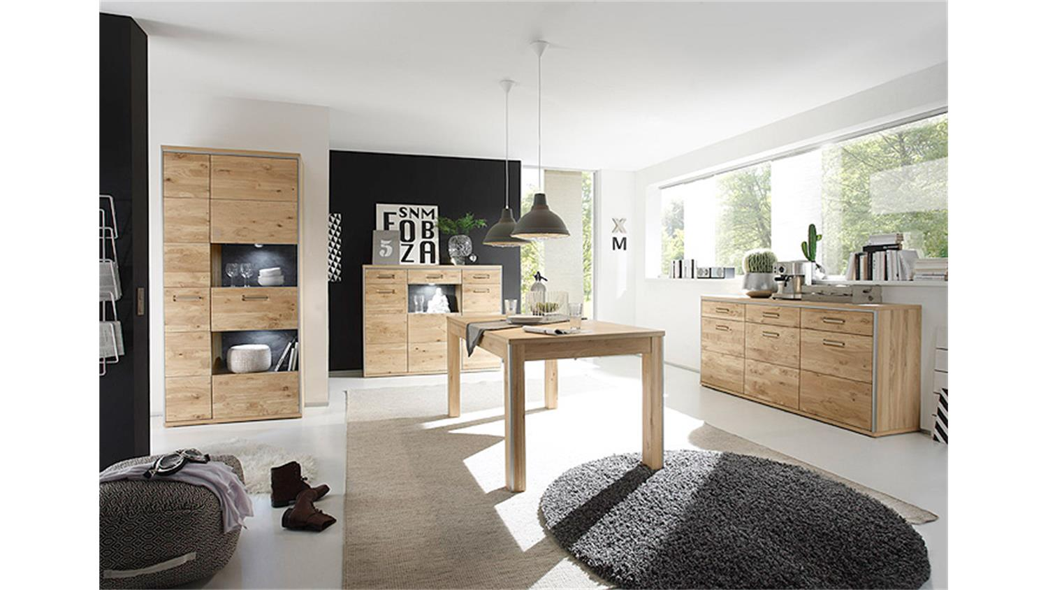 esstisch espero tisch ast eiche furniert ausziehbar 160 260. Black Bedroom Furniture Sets. Home Design Ideas