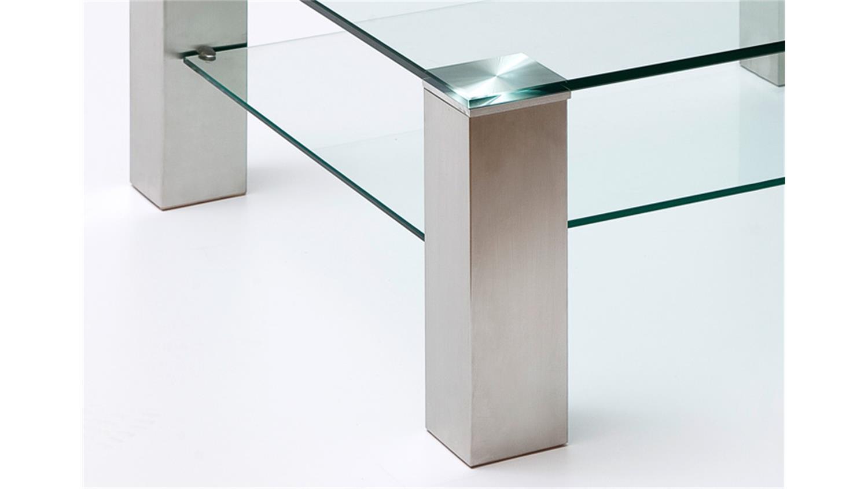 couchtisch asta klarglas metall 90x90 cm. Black Bedroom Furniture Sets. Home Design Ideas