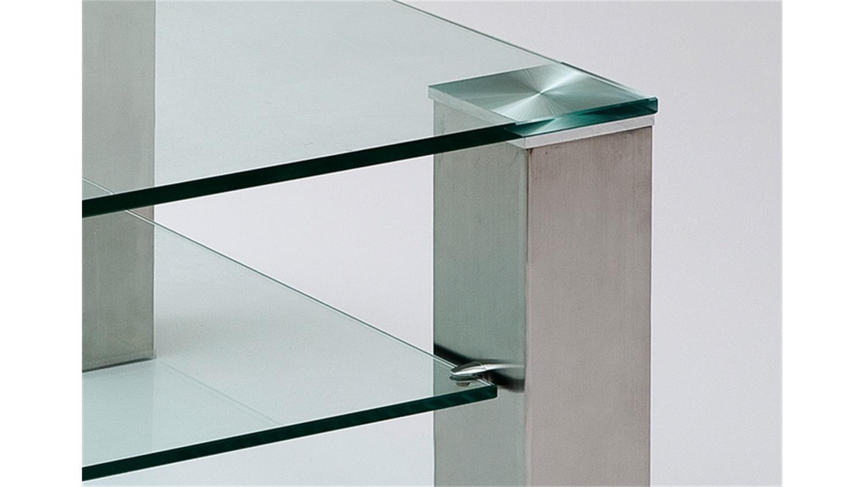 Couchtisch ASTA Klarglas Metall 110×70 cm