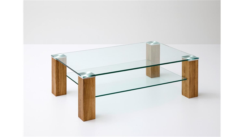 Couchtisch alma klarglas asteiche massivholz 110x70 cm for Couchtisch 110x70