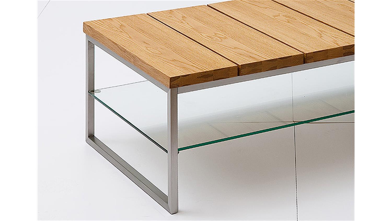 Couchtisch norge asteiche massivholz klarglas 100x60 cm for Couchtisch asteiche
