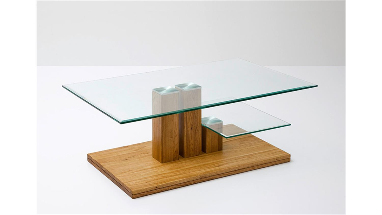 Couchtisch paco asteiche massivholz klarglas 110x70 cm for Couchtisch 110x70