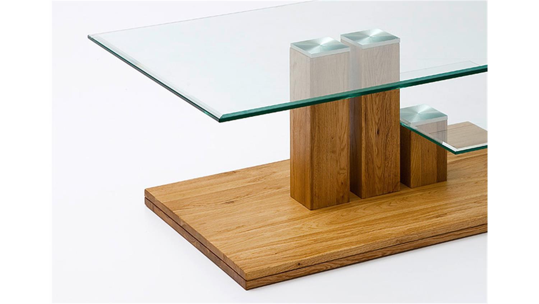 couchtisch paco asteiche massivholz klarglas 110x70 cm. Black Bedroom Furniture Sets. Home Design Ideas