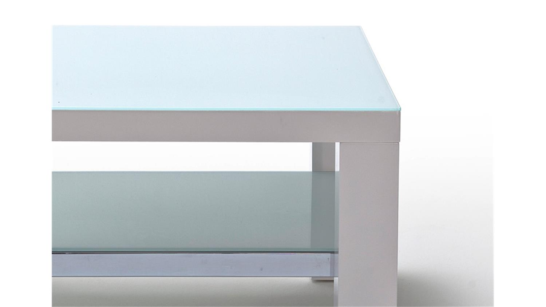 Couchtisch JAM MDF weiß Hochglanz lackiert Glas 75×75 cm -> Couchtisch Glas Lackiert