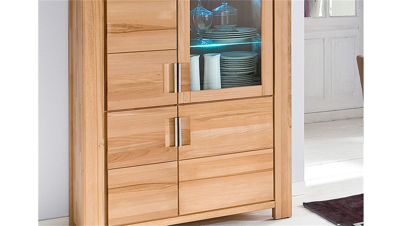 kombivitrine drive vitrine buffet in kernbuche massiv ge lt. Black Bedroom Furniture Sets. Home Design Ideas