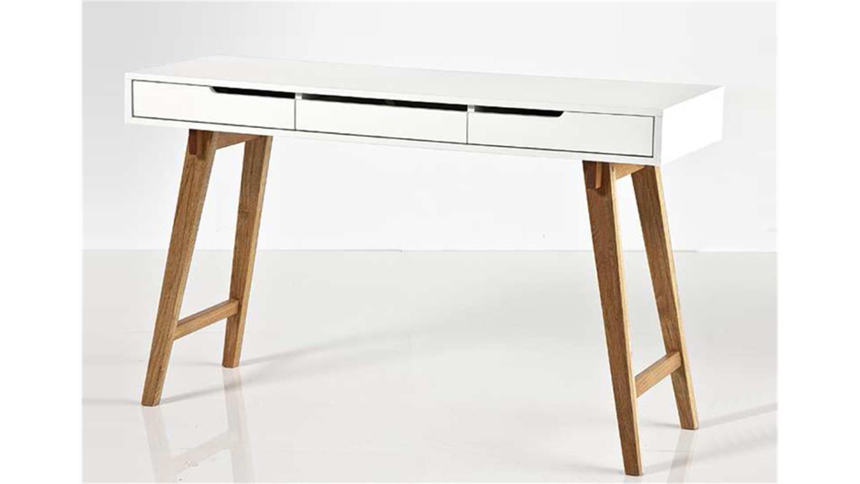 konsole anneke wei matt lackiert massivholz natur. Black Bedroom Furniture Sets. Home Design Ideas