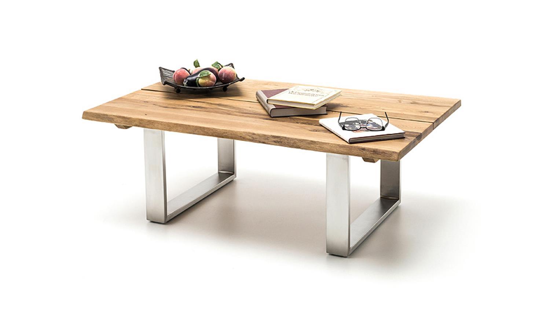 couchtisch sandro asteiche massiv ge lt gewachst baumkante. Black Bedroom Furniture Sets. Home Design Ideas