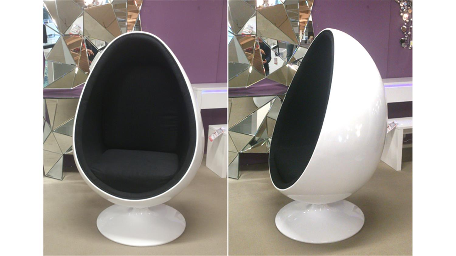 Egg sessel design home mood space egg ball chair sessel for Designer couchtisch replica