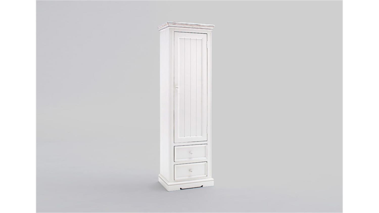 Garderobenschrank Rechts Opus In Kiefer Massiv Weiß Vintage