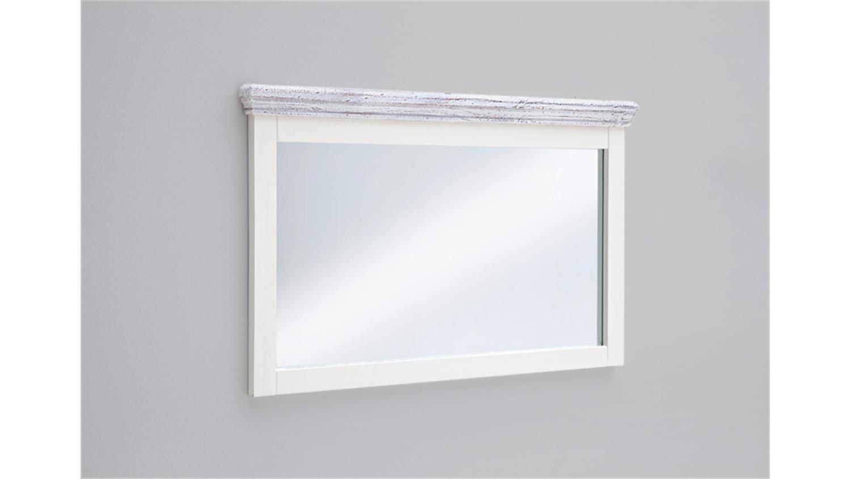 Spiegel OPUS Wandspiegel Kiefer massiv weiß Vintage 124 cm
