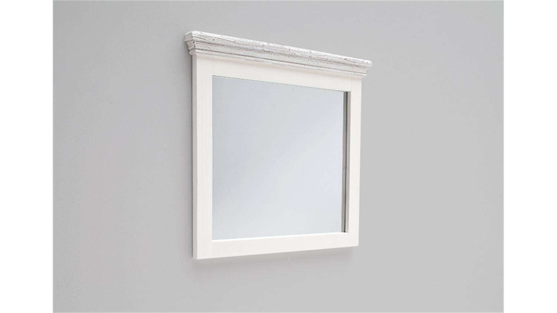 Spiegel OPUS Wandspiegel Kiefer massiv weiß Vintage 80 cm