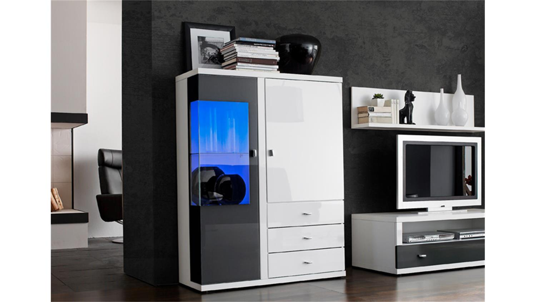 highboard hochglanz sideboard hochglanz grau highboard in. Black Bedroom Furniture Sets. Home Design Ideas