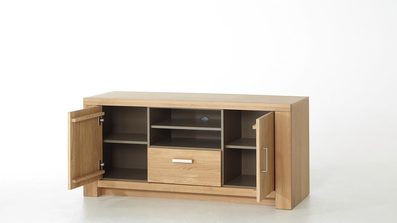 tv board prato lowboard in eiche bianco teilmassiv ge lt 138. Black Bedroom Furniture Sets. Home Design Ideas