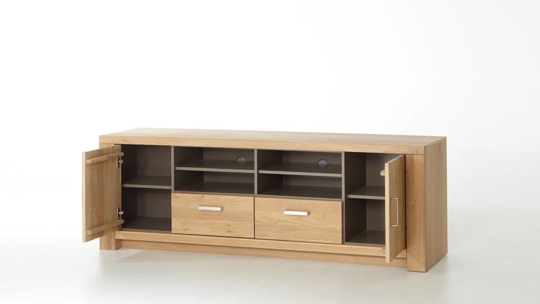 tv board prato lowboard in eiche bianco teilmassiv ge lt 190. Black Bedroom Furniture Sets. Home Design Ideas