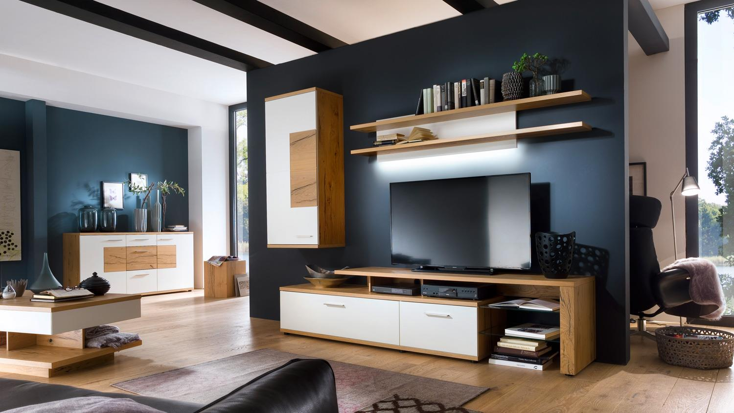h ngeschrank nizza schrank wei matt lack crackeiche furniert. Black Bedroom Furniture Sets. Home Design Ideas