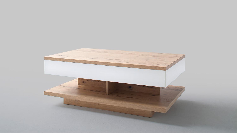 couchtisch nizza tisch in wei matt lack crackeiche furniert. Black Bedroom Furniture Sets. Home Design Ideas