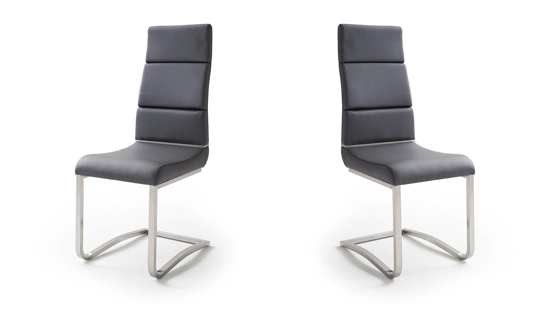 schwingstuhl 2er set nizza freischwinger stuhl in schwarz. Black Bedroom Furniture Sets. Home Design Ideas