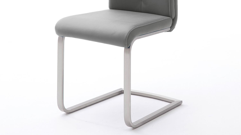 Stuhl 4er set paulo 2 esszimmerstuhl grau und edelstahl for Stuhl edelstahl
