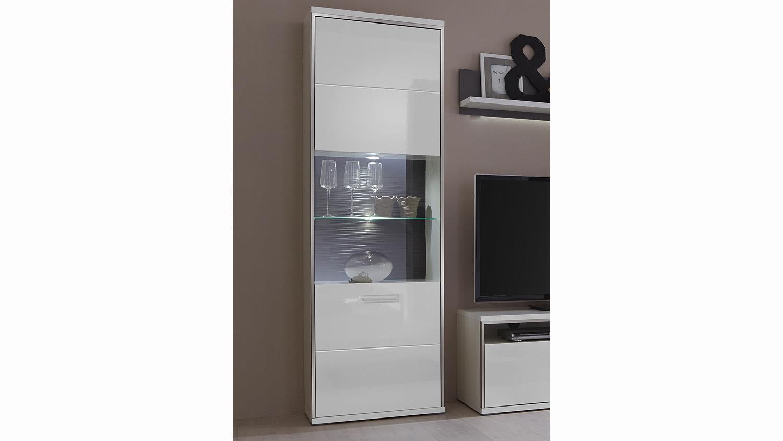 wohnwand trento 2 wei hochglanz absetzungen grau. Black Bedroom Furniture Sets. Home Design Ideas