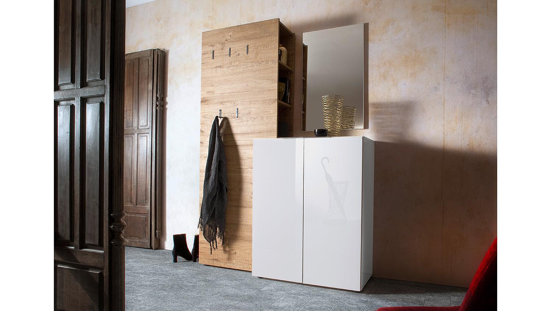 Garderobenpaneel vicenza garderobe paneel in eiche natur for Garderobe natur