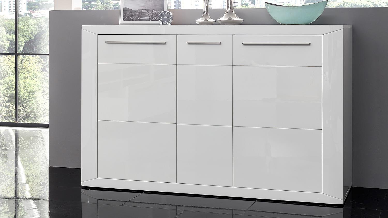 sideboard padua kommode anrichte in wei hochglanz. Black Bedroom Furniture Sets. Home Design Ideas