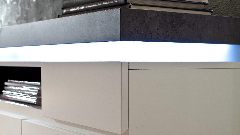 lowboard tv wei matt inspirierendes design f r wohnm bel. Black Bedroom Furniture Sets. Home Design Ideas