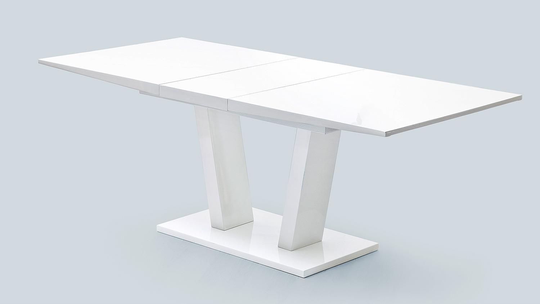 esstisch tirso tisch wei hochglanz lack mit synchronauszug. Black Bedroom Furniture Sets. Home Design Ideas